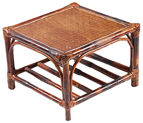 Novelty Cane Art ST1M12X12SQLOW Side Table (Brown)
