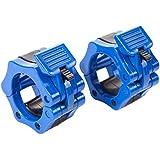 WINOMO 2stk Sperren Halsbänder Clamp Haken Griff mit Quick Release Snap Riegel für Pro Training (blau)