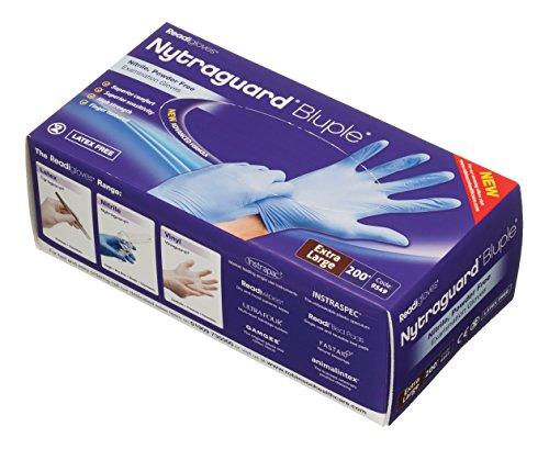 readigloves 9549nytraguard bluple Untersuchungshandschuhe Nitril Handschuhe-Extra Large (200Stück) (Nitril-handschuhe Extra Large)