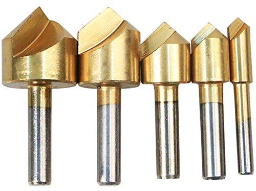 Générique Malayas® 5 Pcs Fraise Conique Bois en HSS Acier, Outil de Forage pour Electroménager/Tuyau/HVAC-6/10/13/16/19