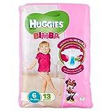 Huggies Mädchen, Größe 6(15–30kg), 13Windeln