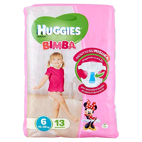 Huggies - Bimba - Pañales - Talla 6 (15-30 kg) - 13 pañales