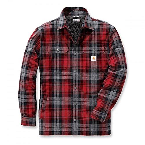 Carhartt Jacket Hubbard Shirt, Farbe:dark crimson;Größe:M