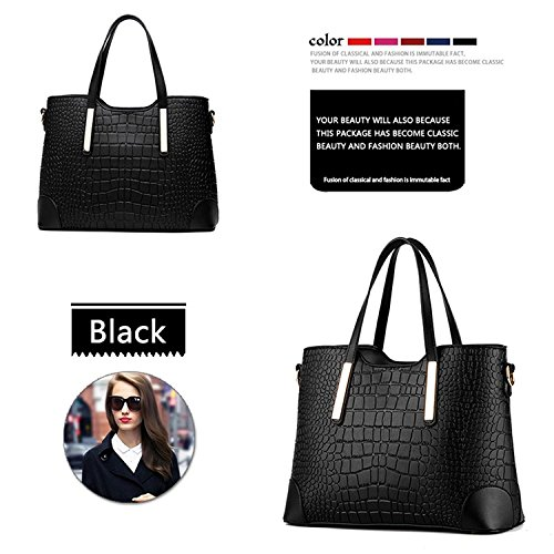 Myleas Donne Top Handle Borse Satchel Borsa Tote Nero