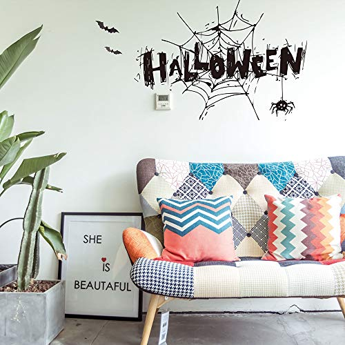 Halloween easy to clean and wipe Witch Background Decorated Living Room Bedroom Wall Stickers Grim Reaper Wall Stickers