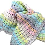 Vintage Rainbow Crochet Baby Blanket Kit - all-inclusive gift for crochet lovers and mums-to-be