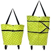 EXSESON Polyester Trolley Luggage Bags Traveling Vegetable Grocery Clothing Bag with Light Weight and Medium Size with…