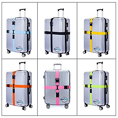 CSTOM Cross Luggage Straps Suitcase Long Travel Accessories Belts- 6 color available