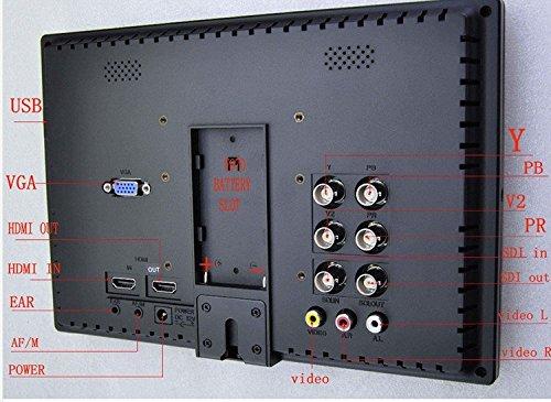 Gowe 17,8cm IPS auf Kamera HD Monitor für Canon 5D Mark III 5D26D 7D 60D 70D 700D 650D DSLR-Kameras Aviation Filmen Monitor 1280* 800