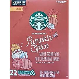 Starbucks Pumpkin Spice Flavored Ground Coffee (22 K-Cup Pods)