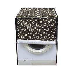 Lithara Black Floral Washing Machine Cover for Front Load IFB Senorita Smart 6.5 Kg