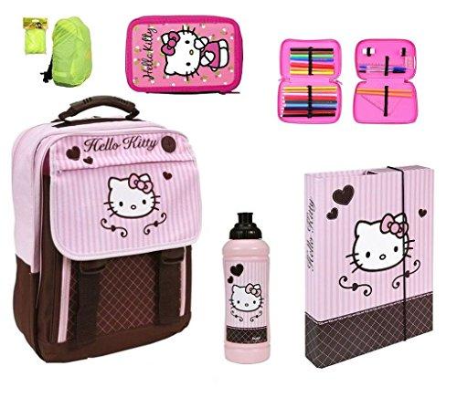 Hello Kitty großer Schulrucksack 5tlg. Federmappe, Sporttasche, Turnbeutel HK13830 (Schulrucksack Kitty Hello)