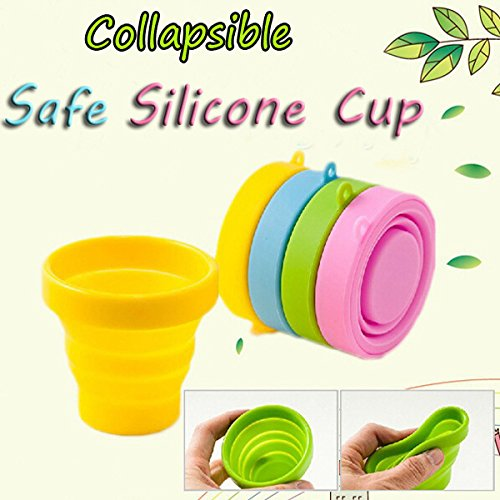 Aliciashouse Retrattile silicone portatile pieghevole della tazza telescopica pieghevole campeggio di sport esterni Travel Mug
