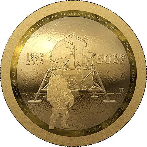 Power Coin Moon Landing 50 Jahrestag Dome Gold Münze 100$ Canada 2019 (20-dollar-gold-zertifikat)