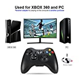 Wetoph Wireless Controller for Xbox 360, GD01 PC Gamepad Joysticks Controller Built-in Dual Vibration(Black)