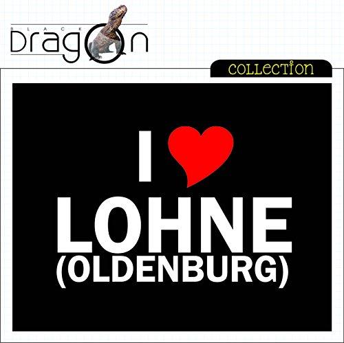 T-Shirt mit Städtenamen - i Love Lohne - Herren - unisex Schwarz