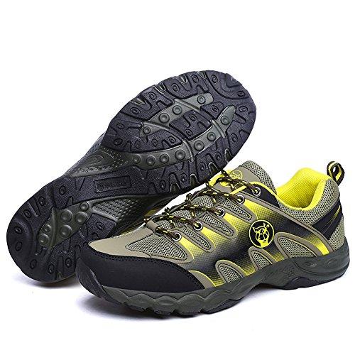 JEDVOO Herren Trekking- & Wanderhalbschuhe Outdoor schuhe Gelb Hellgrün