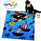 PARADISO - Spielteppich PIRATEN (91x67) + 24 Piraten-Figuren