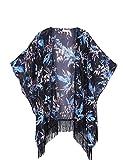 Soul Young Damen Sommer floral bedruckte Chiffon Kimono Cardigan Schal Tops