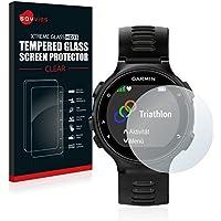 Savvies Protector Pantalla para Garmin Forerunner 735XT Cristal Templado Vidrio Templado - Dureza 9H
