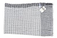 Agnona Bufanda Gris lino cachemira 200 cm x 70 cm