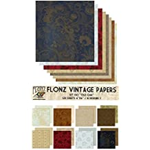 "Paper Pack (24sh 6""x6"") Old Oak FLONZ Vintage Paper for Scrapbooking and Craft"