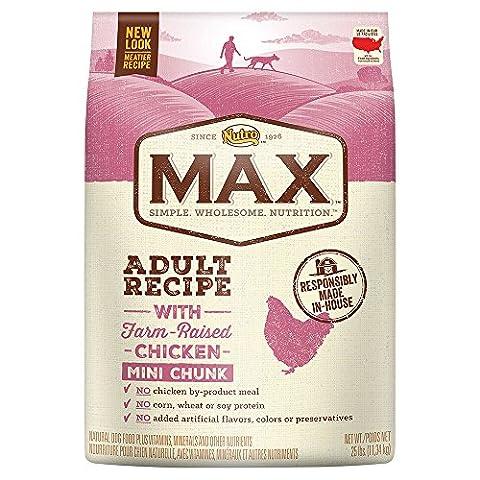 Nutro MAX Adult With Farm Raised Chicken Mini Chunk Dry Dog Food, 25 lbs. by Nutro