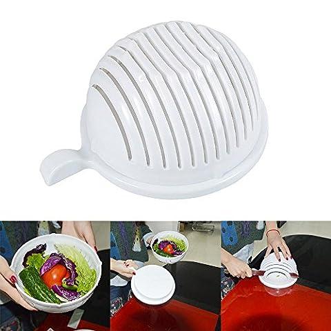 niceEshop(TM) 60 Seconds Salad Maker Salad Chopper Strainer Vegetable Cutter Bowl