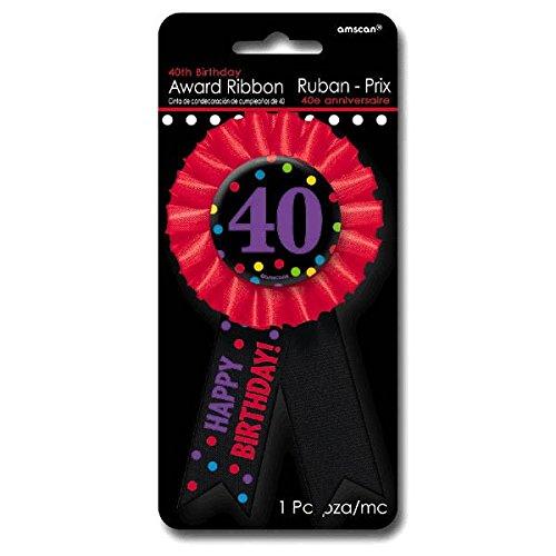 Amscan Auszeichnungsband zum 40. Geburtstag