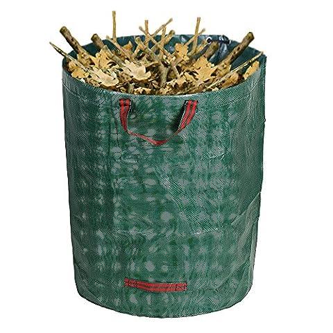 270L Grand sac à déchets de jardin étanche robuste Heavy Duty réutilisable pliable ordures Herbe Sack,