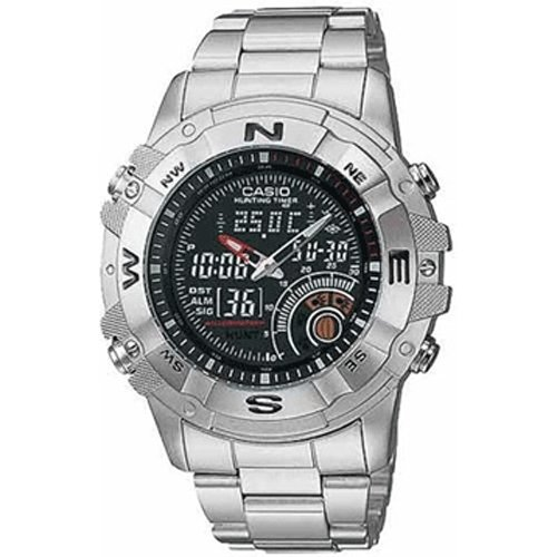 88cb1403017f CASIO 19702 AMW-705D-1AV - Reloj Caballero cuarzo brazalete metálico dial  negro ...
