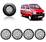 #7: Auto Pearl 13-inch Silver and Black Wheel Cover Cap for Maruti Suzuki Eeco (Set of 4)