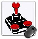 3drose LLC 20,3x 20,3x 0,6cm Maus Pad, schwarz/weiß/rot Joystick (MP _ 38295_ 1)