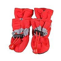 Webri Dog Rain Shoes Non-slip Waterproof Protective Boots, Portable Pet Dog Shoes 4 Pcs