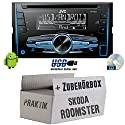 Skoda Roomster & Praktik - JVC KW-R520E - 2DIN Autoradio Radio - Einbauset