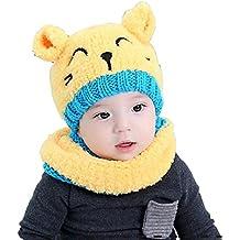 Tuopuda® Gorro y Bufanda de Invierno para bebe niña niño Sombrero Gorro de punto