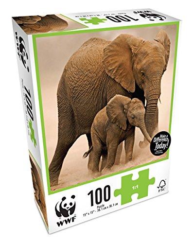 WWF Elefantes, puzzle de 100 piezas (NEO WWF102)