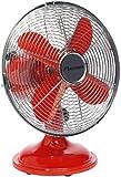 Bestron DFT25R Climate Control Summer Ventilateur de Table Retro Rouge