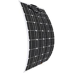 Giosolar 100W 12V Flexible Panneau solaire haute efficacité Panneau solaire PV monocristallin pour camping-car, caravane, camping-car, bateau/Yacht