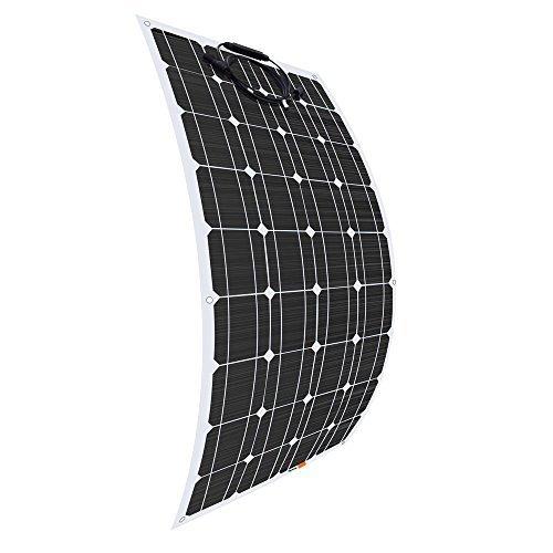 Giosolar 100W 12V Flexible Solar Panel High Efficiency Monocrystalline Solar PV Panel for Motorhome, Caravan, Camper, Boat/Yacht