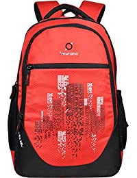 Murano Era Casual Backpack With 3 Compartment And 30 LTR Travel Backpack (Red)