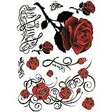 Tatouage éphémère étanche de motifs fleurs sexy pour femmes