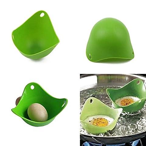 Highdas Ei-Wilderer-4-Packung Kochgeschirr Eierbecher Silikon-Ei-Wilderer Für Das Kochen Das perfekte