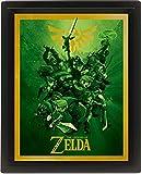 Pyramid International Link 10x8 Gerahmtes 3D Poster, PET und Tinte Wird der Rahmen aus PS, Mehrfarbig, 29 x 25 x 5 cm