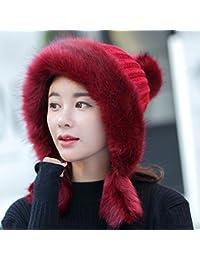 7fdc87553a06 XIAOXIAO Cappello Inverno Signorina Cappello di Lei Feng Ispessimento Tenere  Caldo Cappello Lavorato A Maglia Linguetta