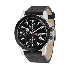 Idea Regalo - SECTOR Orologio Cronografo Quarzo Uomo con Cinturino in Pelle R3271797004