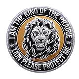 JOYfree Metall 3D Auto Aufkleber Adler Tiger Lion Muster Emblem Abzeichen Aufkleber Tier Auto Aufkleber Auto Styling DIY Dekoration Zubehör, Runde löwe, größe (No.3)