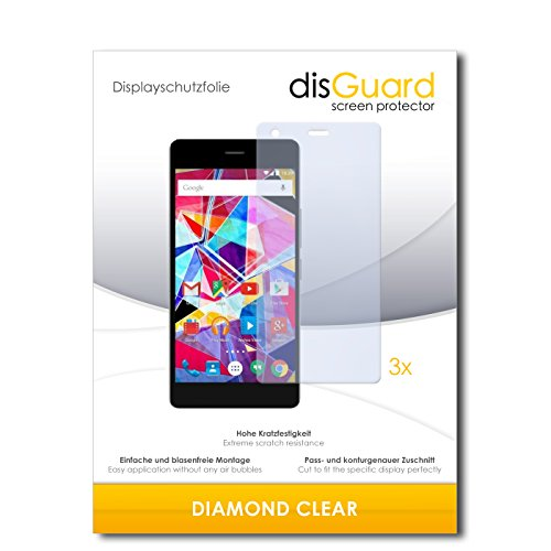 3 x disGuard® Schutzfolie Archos Diamond S Bildschirmschutz Folie