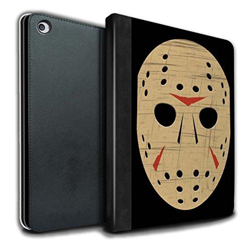 (Stuff4® PU-Leder Hülle/Case/Brieftasche für Apple iPad Air 2 Tablet/Jason Vorhees Maske Inspiriert Muster/Grusel Filmkunst Kollektion)