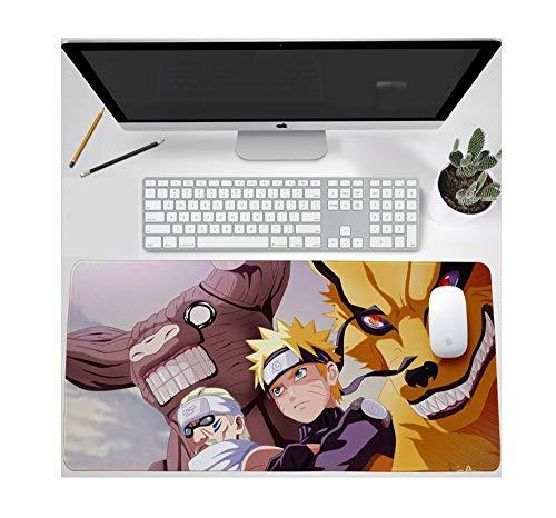1450 Serie Notebook (Mauspads,Spiel-Mausunterlage Große Größe Lockinganti-Skid-Gummibasis Geeignet Für Computer Pcs Und Laptops Tastatur Anime Naruto-Serie 900 * 400 * 3 Mm E)